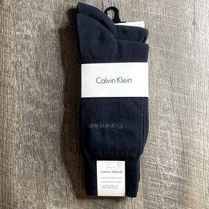Calvin Klein Men's Black Dress Socks 2 Pack New